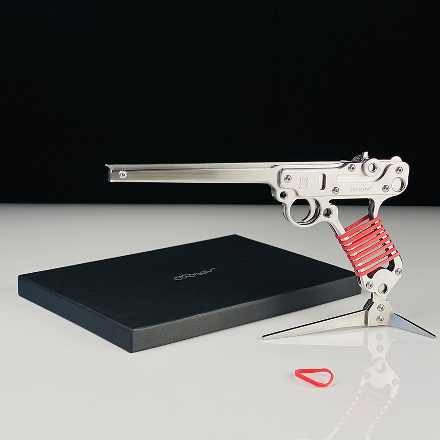 jean-octobon-luger-p08-mauser-sculpture-gun-pistol-sculpture-rubbergun
